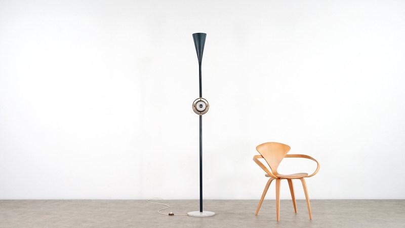 Angelo Lelli Eye Lamp for Arredoluce, Italy Main View