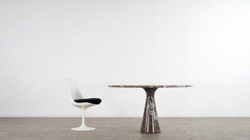 angelo mangiarotti table and saarinen chair