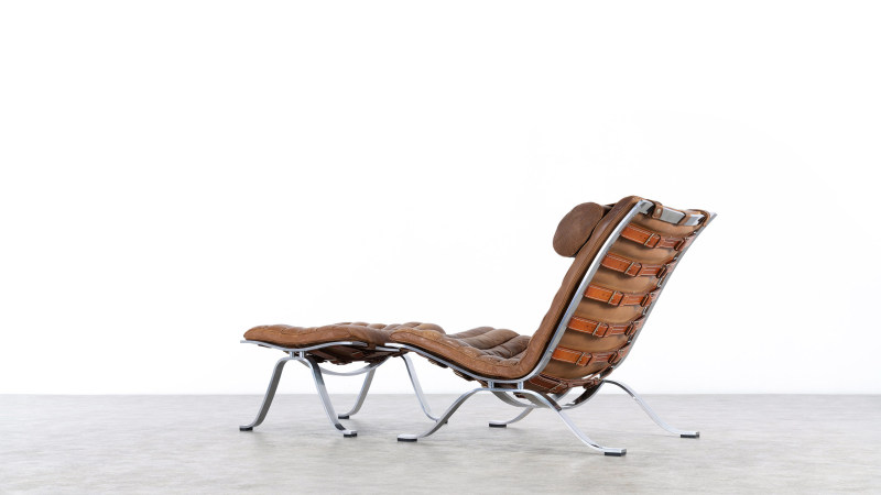 Arne Norell Chair and Ottoman