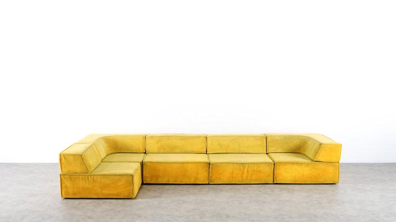Aufsicht des COr Trio Sofa in gelb