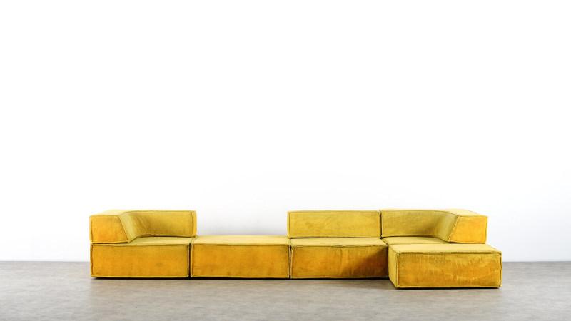 Variante des Cor Trio Sofa in gelb