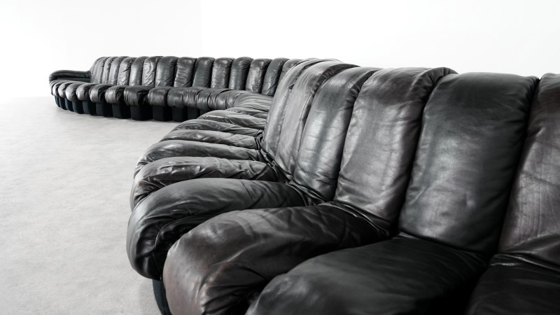 de sede sofa 600 leather details