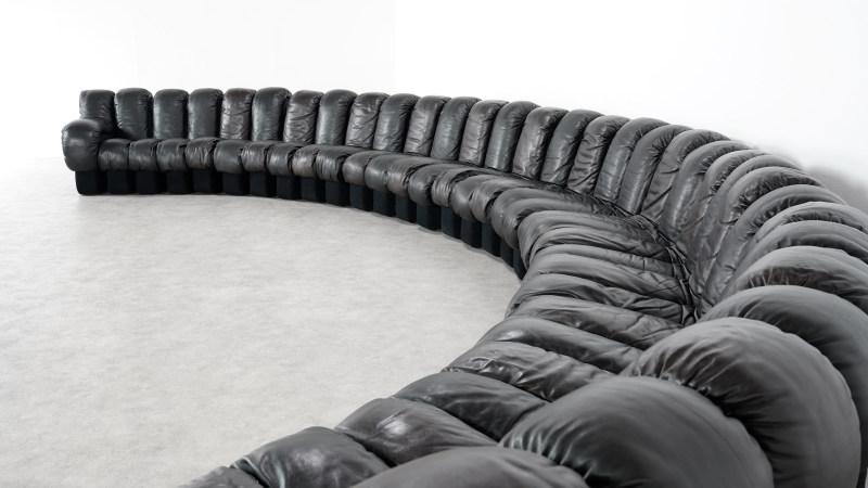 de sede sofa 600 left curved