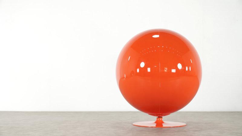Backside of Eero Aarnio Ball Chair by Asko