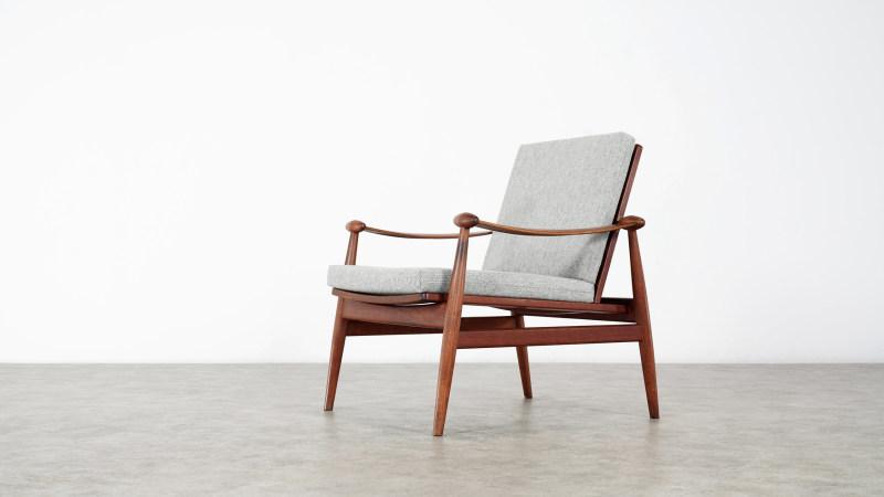 finn juhl spade chair front view