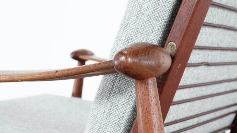 finn juhl spade chair closeup detail