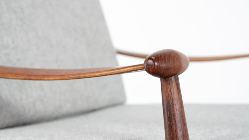 finn juhl spade chair armrest view