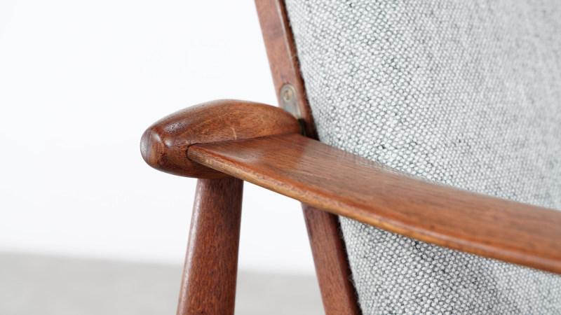 finn juhl spade chair armrest detail view