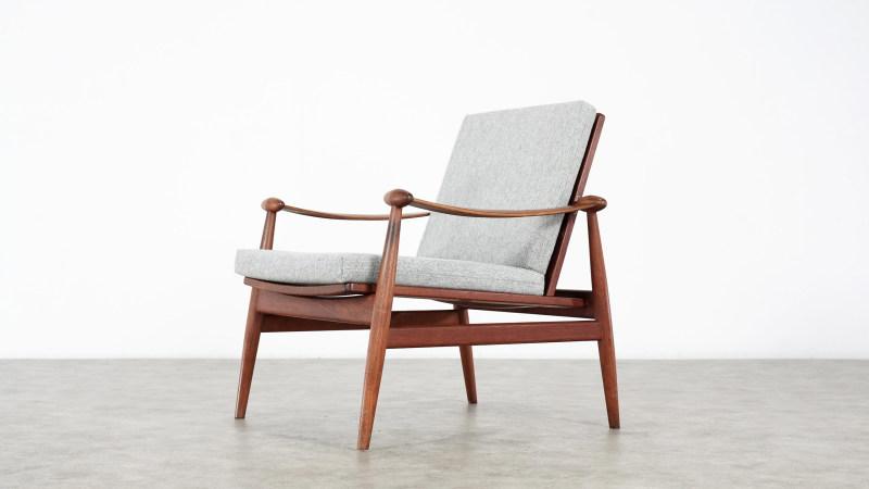 finn juhl spade chair side view 2
