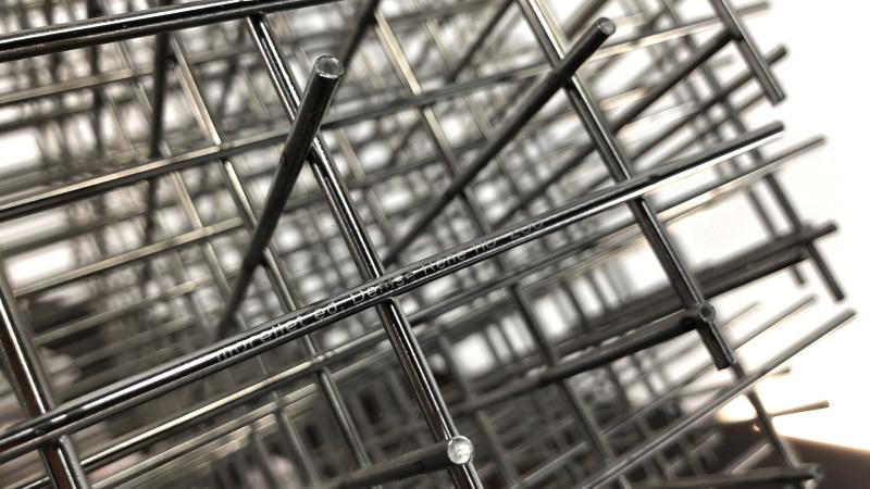 francois morellet sphere galerie denis signature rene