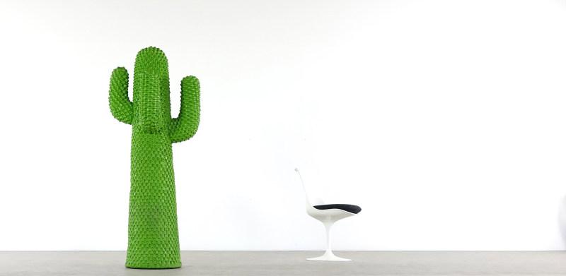 gufram cactus and saarinen chair