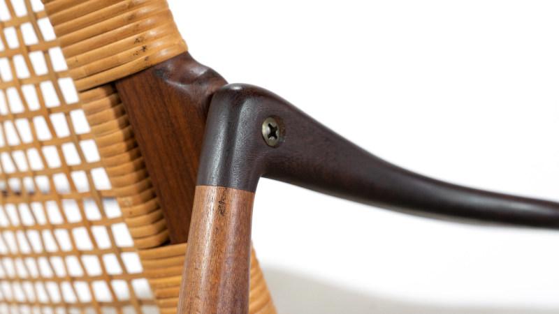 Hartmut Lohmeyer Sessel, Detail von Armlehne
