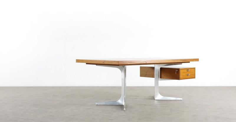 herbert hirche desk schreibtisch detail hinten holzäpfel