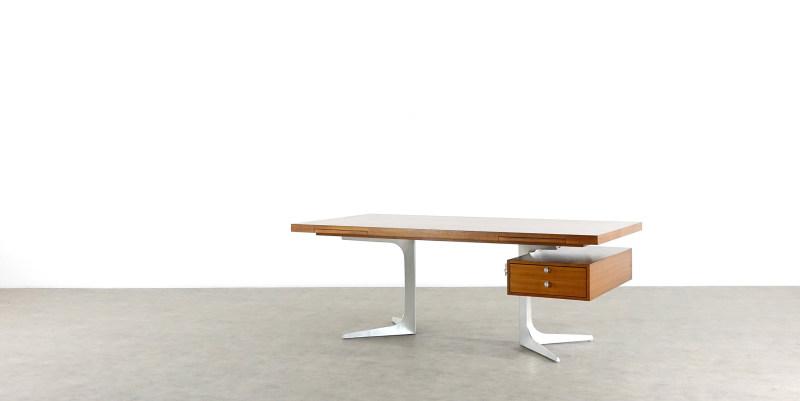 herbert hirche desk front angle holzäpfel