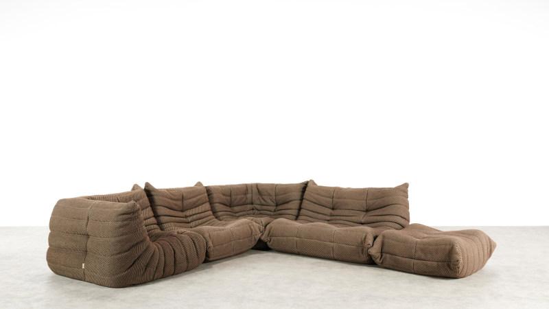 togo sofa ligne roset front view angle