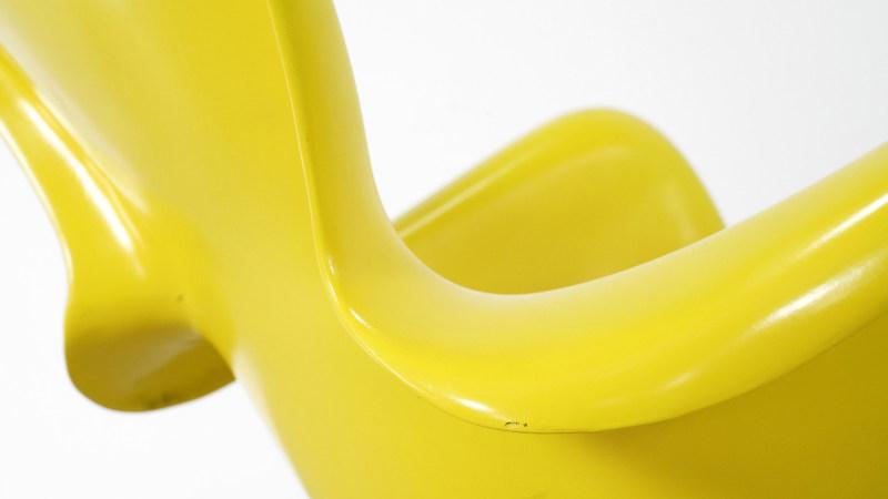 Luigi Colani Chair yellow detail