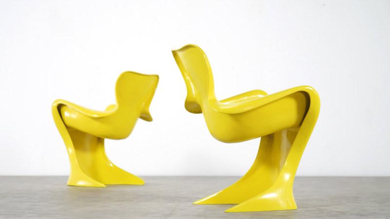 Luigi Colani Chair set of 2