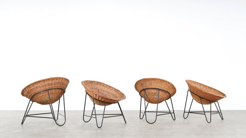 Mathieu Mategot Wicker Chair all