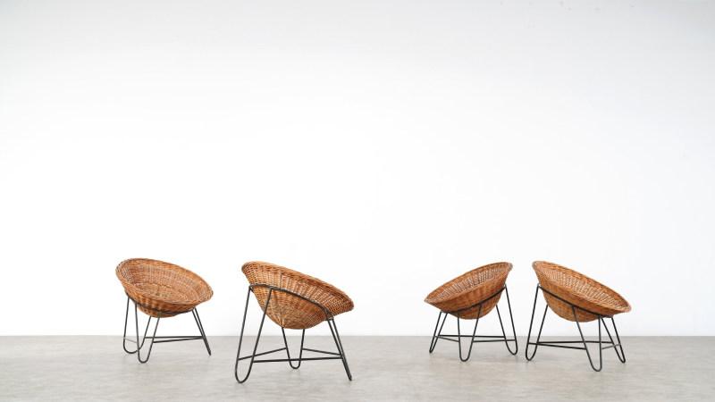 Mathieu Mategot Wicker Chair