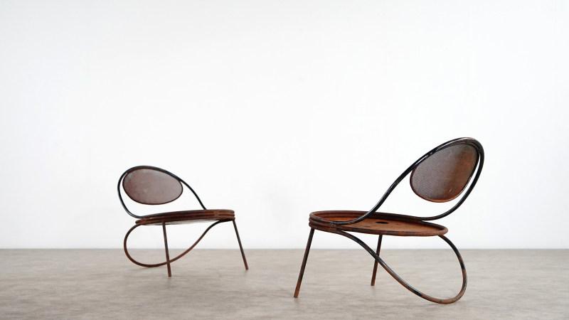 mathieu mategot copacabana chair pair front view