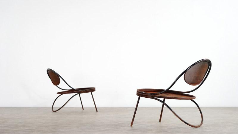 mathieu mategot copacabana chair set vintage