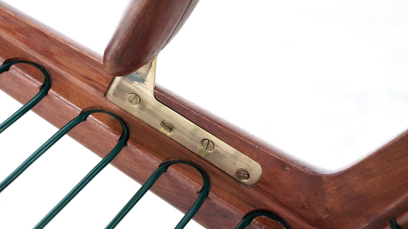 peter hvidt boomerang chair brass detail