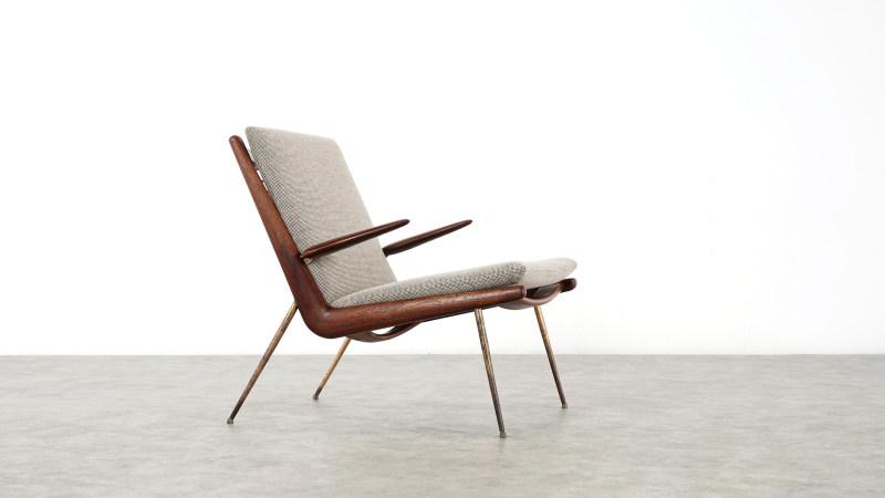 peter hvidt boomerang chair complete view