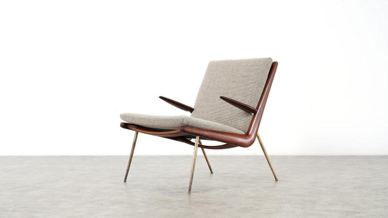 peter hvidt boomerang chair left side