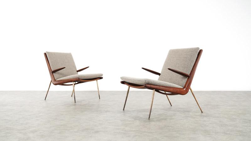 peter hvidt boomerang chair duo view