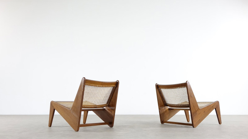 Pierre Jeanneret Kangourou Lounge Chair Chandigarh Touchaleaume India in france