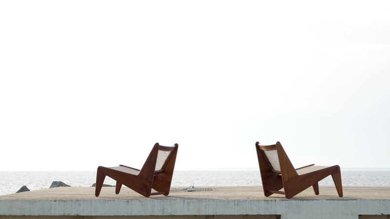 Pierre Jeanneret Kangourou Lounge Chair Chandigarh Touchaleaume India