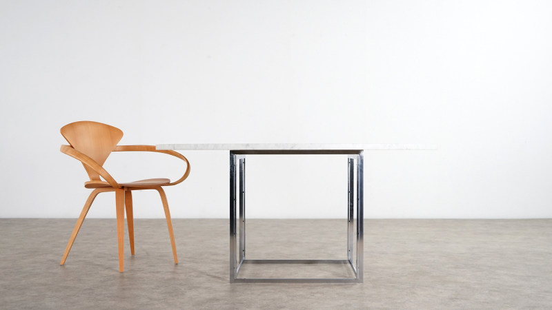 poul kjaerholm table and cherner chair