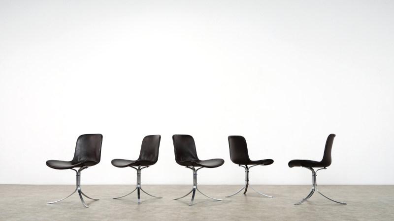 poul kjaerholm pk 9 chair set front