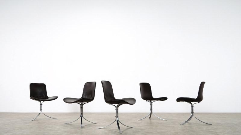 poul kjaerholm pk 9 chair set of 5 chairs