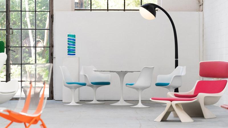 Saarinen Chair Sitzgruppe Ansicht komplett