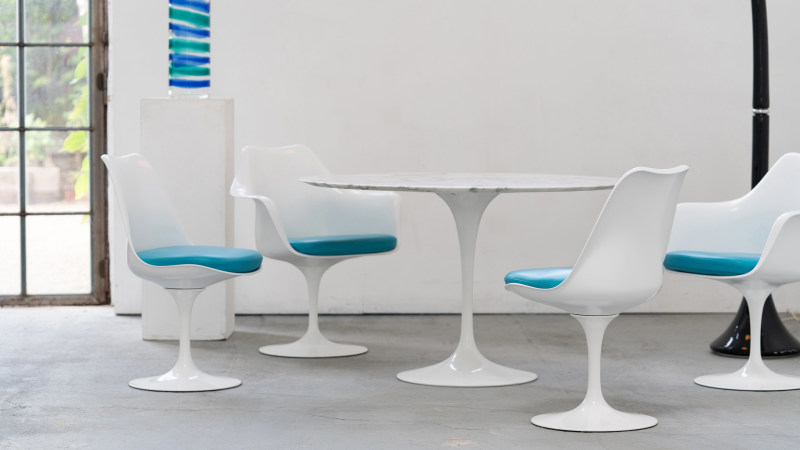 Saarinen Chair Sitzgruppe Nahaufnahme