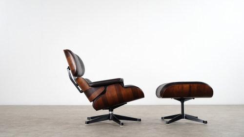 Charles Eames   Lounge Chair U0026 Ottoman, Rosewood U0026 Brown Leather