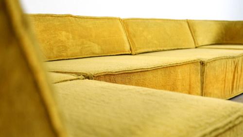 Cor Trio Sofa gelb detail ansicht